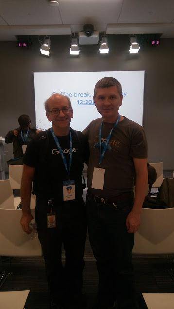Я и Джон Мюллер в Google Event Center